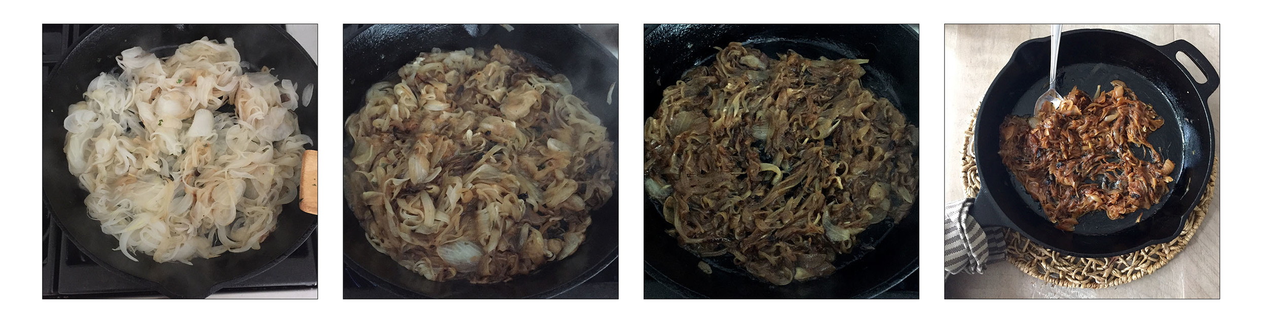 Caramelized Onions, step by step.