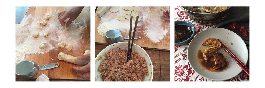 dumplings, step by step.