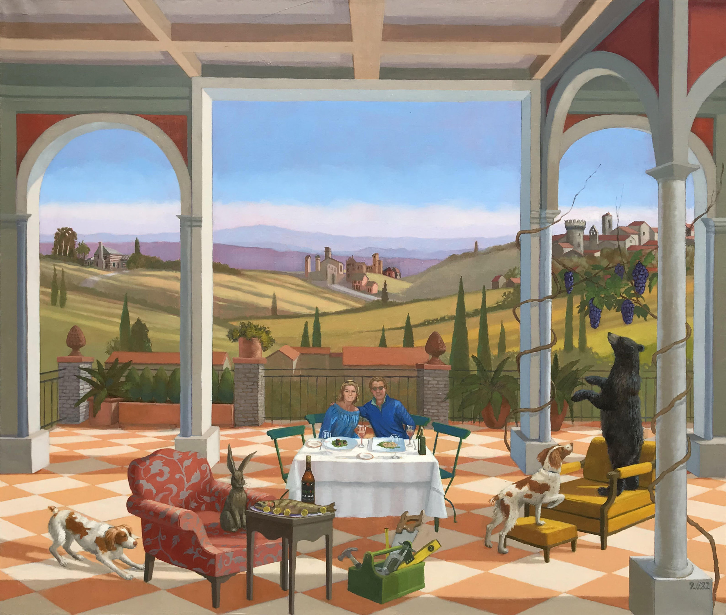 """View with Room, oil on linen, 34"""" x 40"""""""