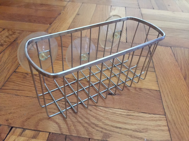 If you have less stuff in the shower you don't need a basket to hold it.
