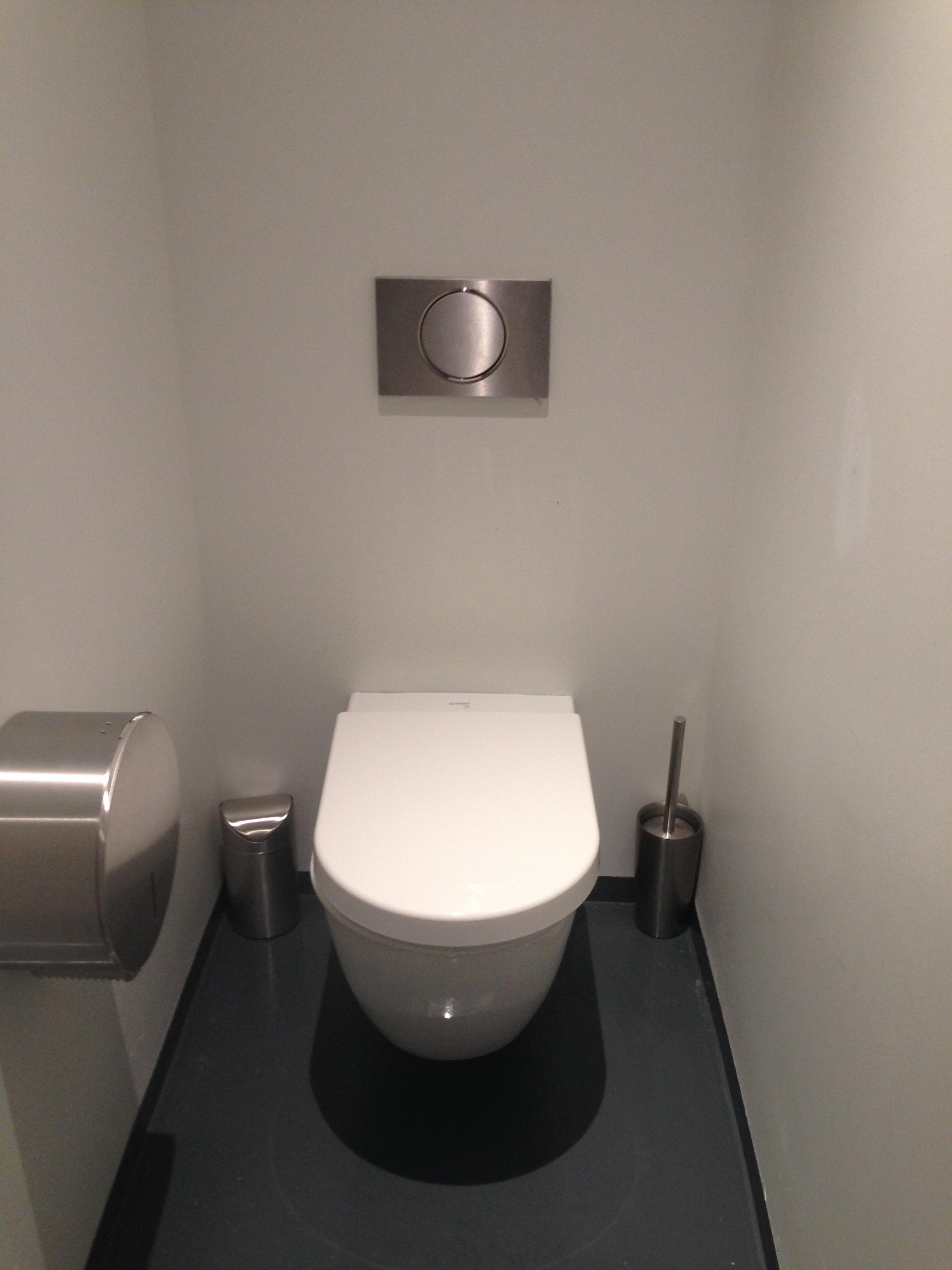 trash bin? toilet brush? toilet paper? toilet? check check check check :)