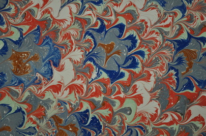 Marbled paper.