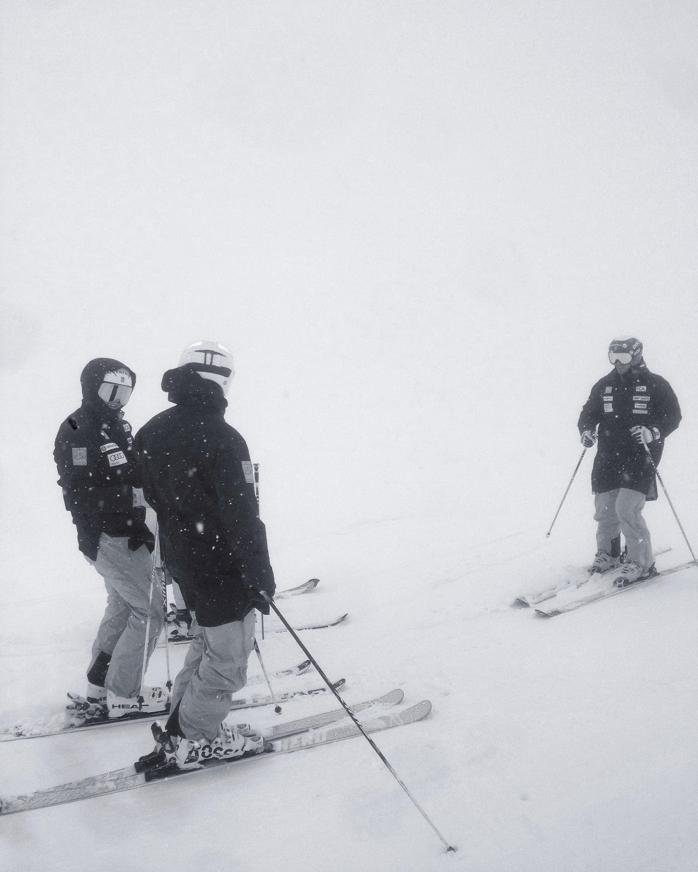 Första dagen var det snöstorm och ganska blött, så vi var inte i backen särskilt länge den dagen.
