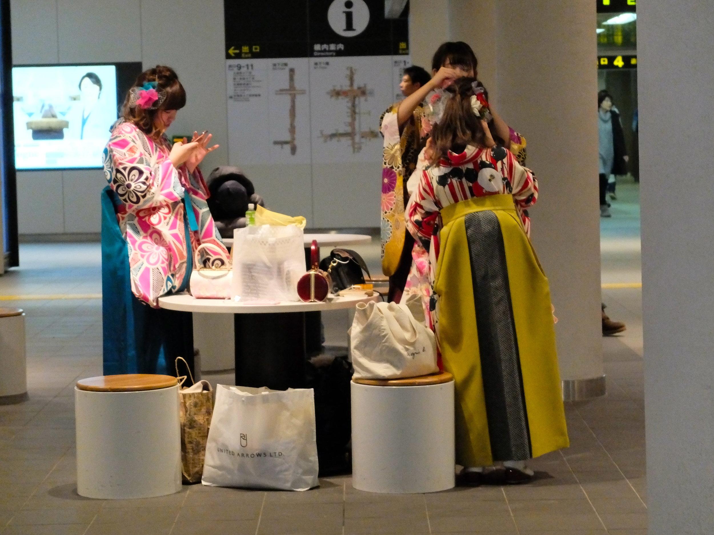 På Sapporo tunnelbana