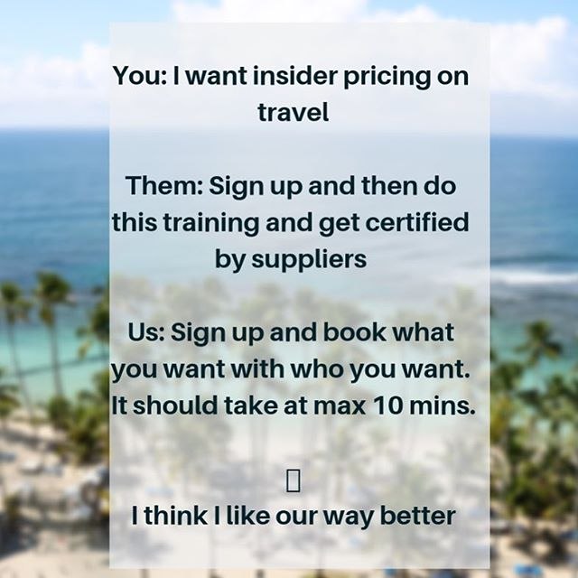 We also offer an amazing travel membership for those who want to book travel by on their own for prices lower than publicly available. . No training required . No hoops to jump through . Quick sign up . Not a timeshare . No gimmicks . Real savings . . . . . . . . . #TravelInsider #SaveMoney #SaveMoneyOnTravel #FamilyVacations #TravelSports #AAU #AAUBasketball #LowCostHotels #TravelMore #BigSavings #TravelIsLife #Inboxforinfo #Linkinbio #WeDifferent