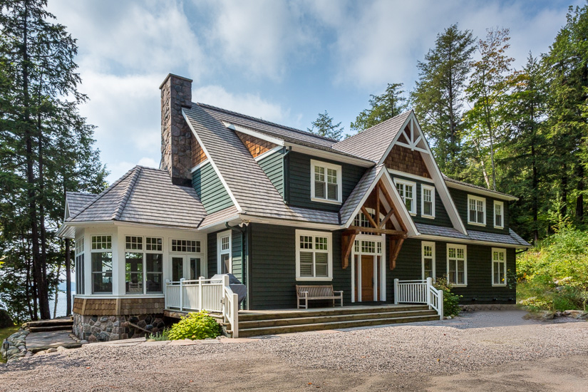 Our paint colour inspiration came from this Muskoka cottage by  Campbell Construction .