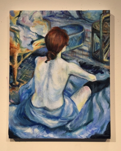 """""""Rousse, la Toilette"""": an adaptation in Oil I've been working on."""