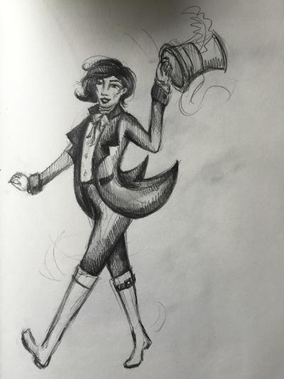 Dr. Tumbleweed, rough concept art