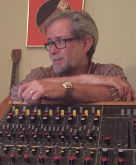Cure, in the Old Soul Studios control room, during the final mix of one of his songs