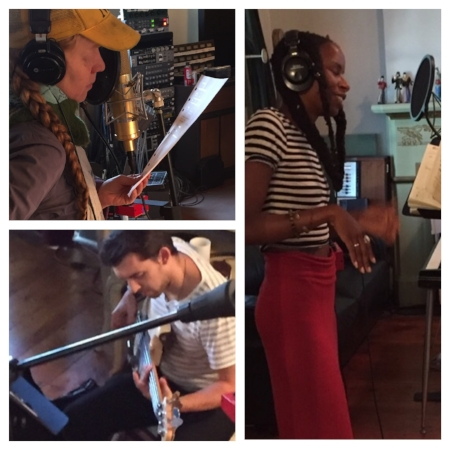 Maze, Lady Moon and Brandon Morrison contributing their extraordinary talents to my music.