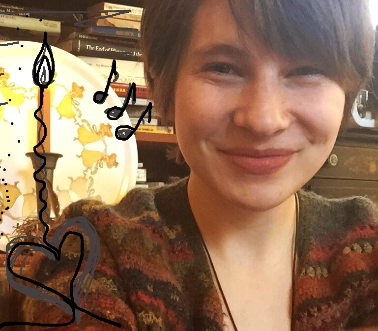 Me, Jess Kitch,as I am, on the day I wrote my first blog post at the Art Farm March 1st, 2017