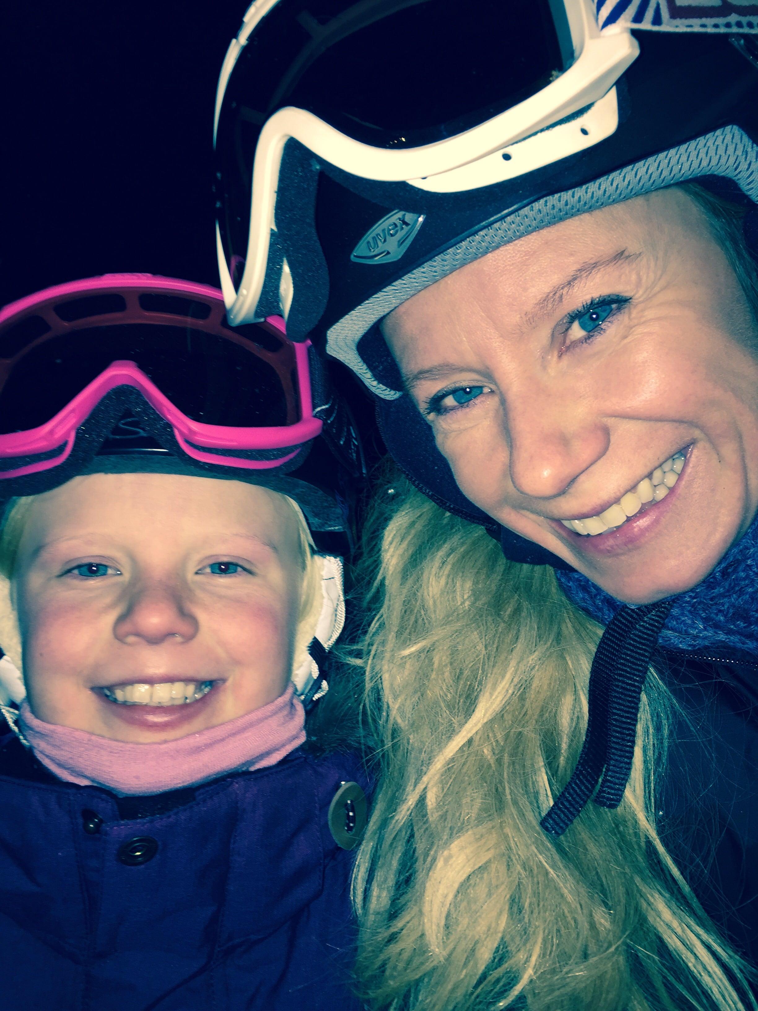 To bestevenner på ski <3
