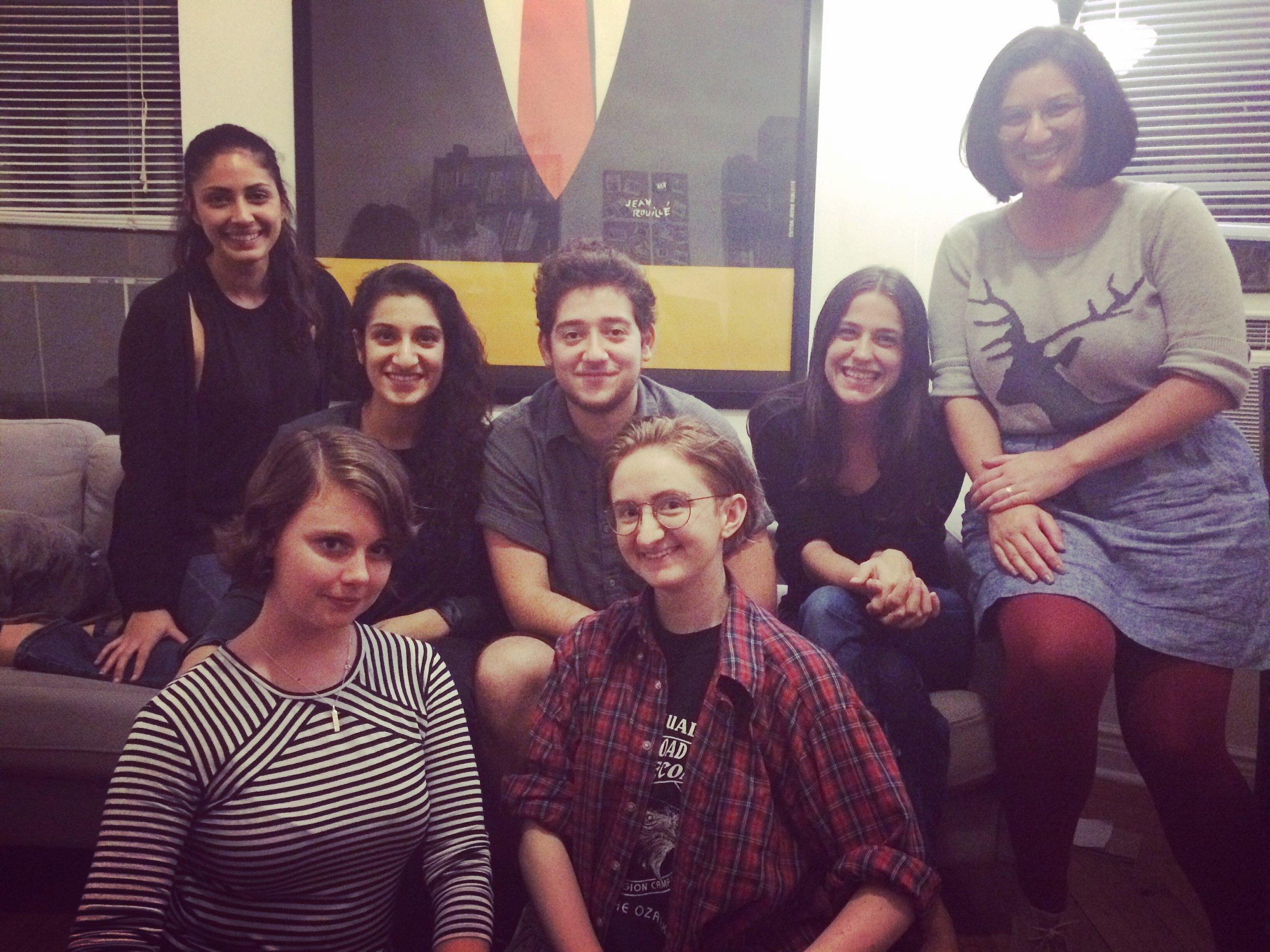 (Top row): Maya Maniar, J. Mehr Kaur, Tae Braun, Sarah Chalfie, Darcy Parker Bruce; (Bottom row): Maggie Crane, Bre Northrup.