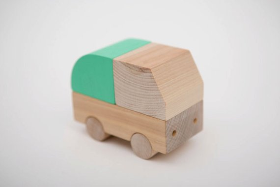 Wooden Recycling Truck