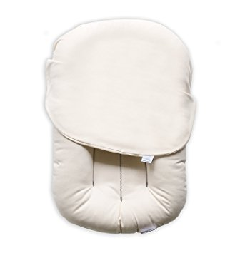 Sleeper we used in a bassinet until 4 months old. He slept like a dream!