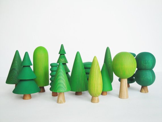 Wooden Tree Play (Set of 14)