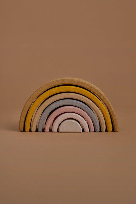 Montessori / Waldorf wood rainbow stacker