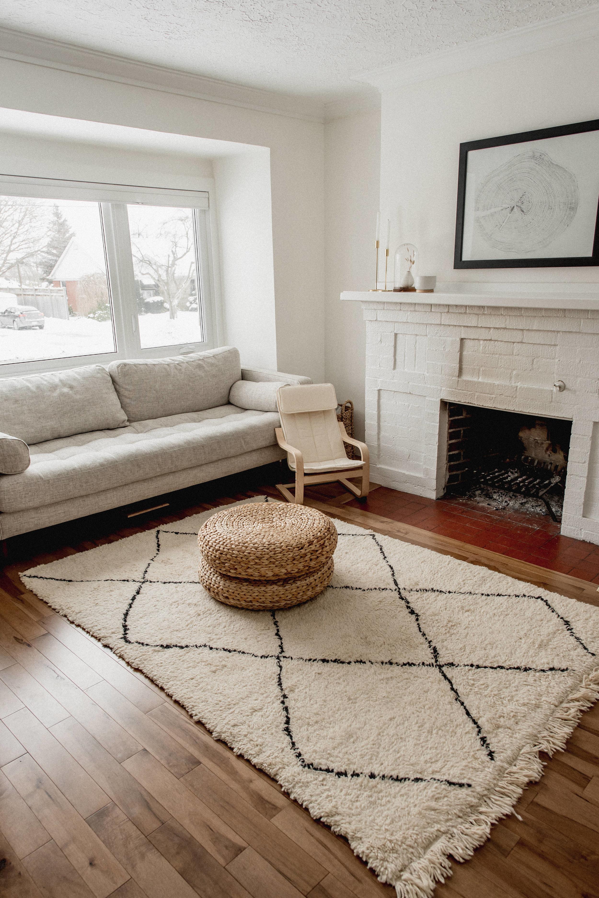 Moroccan meets Scandinavian inspired living room
