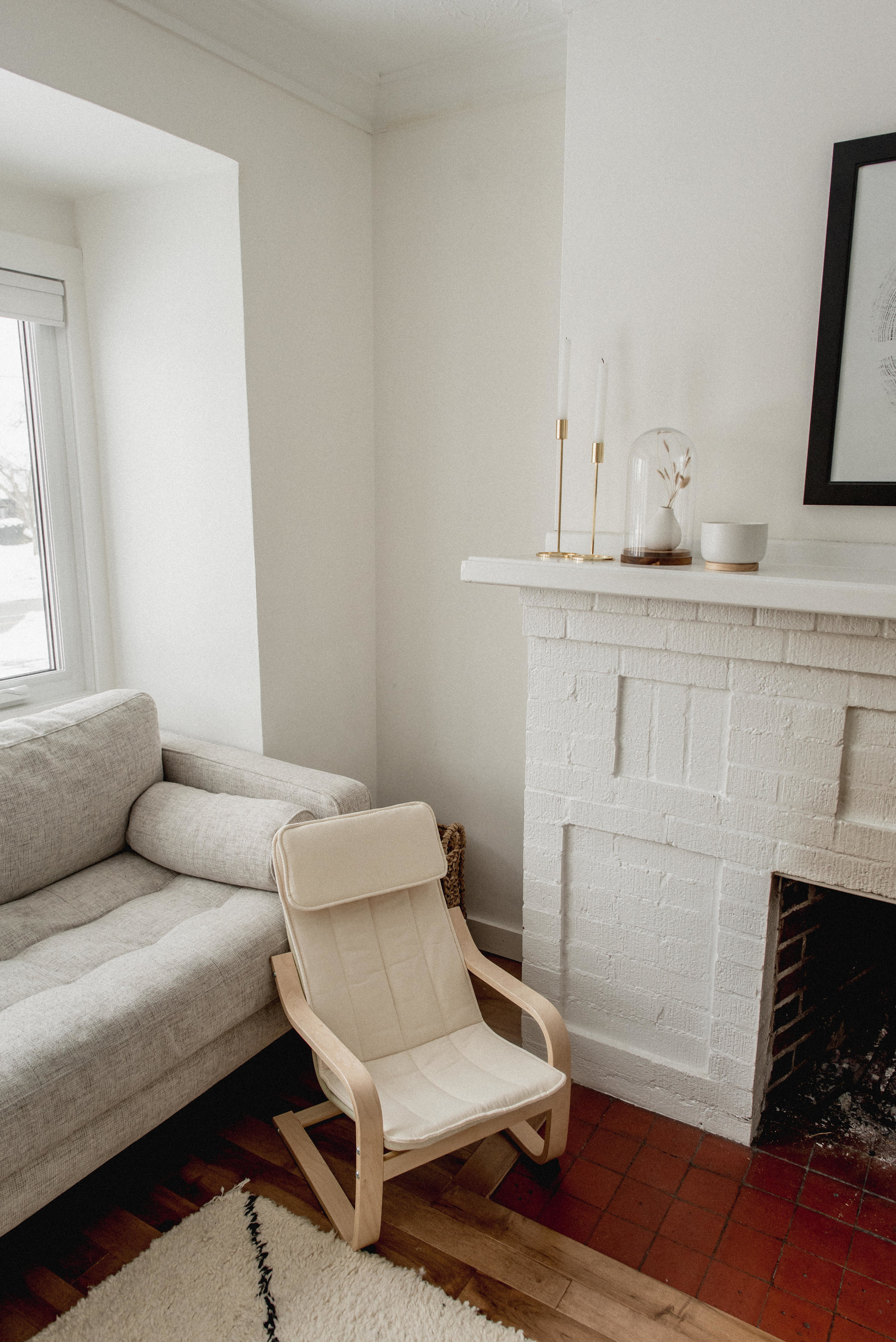 Mini poang chair for child in minimalist living room