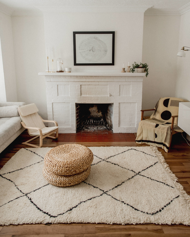 Moroccan inspired minimalist living room