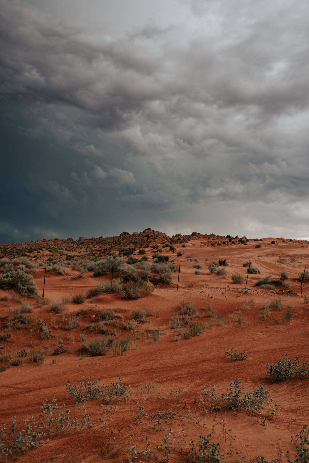Storm clouds over Hurricane, Utah
