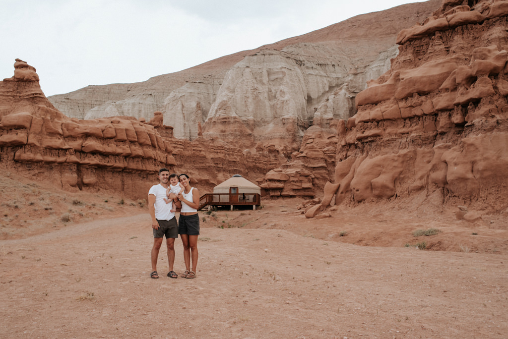 Family camping at Goblin Valley State Park