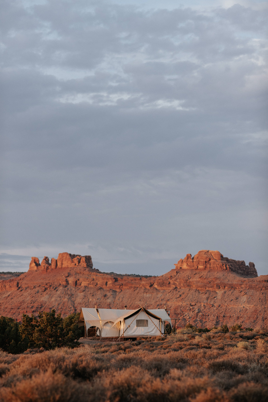Moab Under Canvas glamping tent near Arches National Park