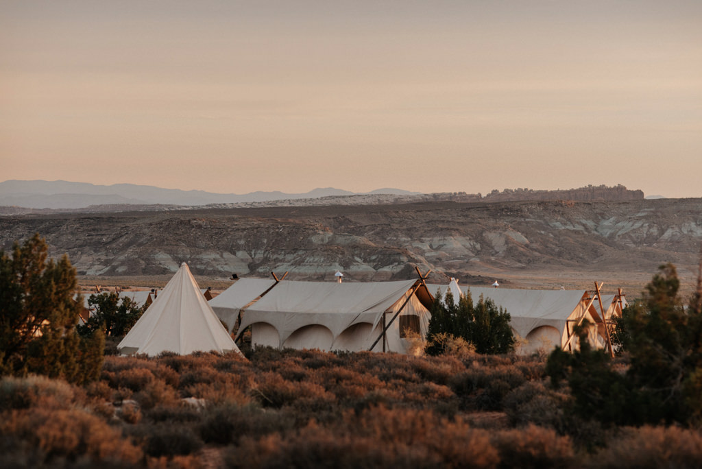 Moab Under Canvas glamping tents near Arches National Park
