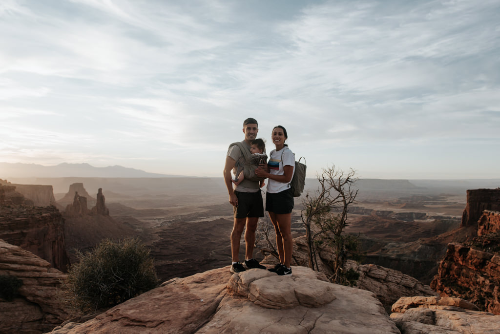 Young family at Canyonlands National Park