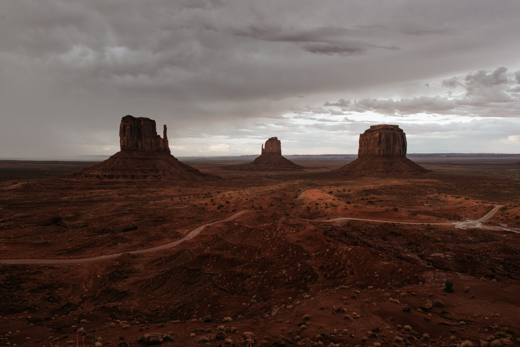 Monument Valley after storm