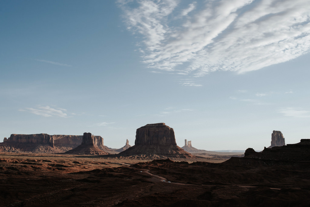 Landscape view of Monument Valley