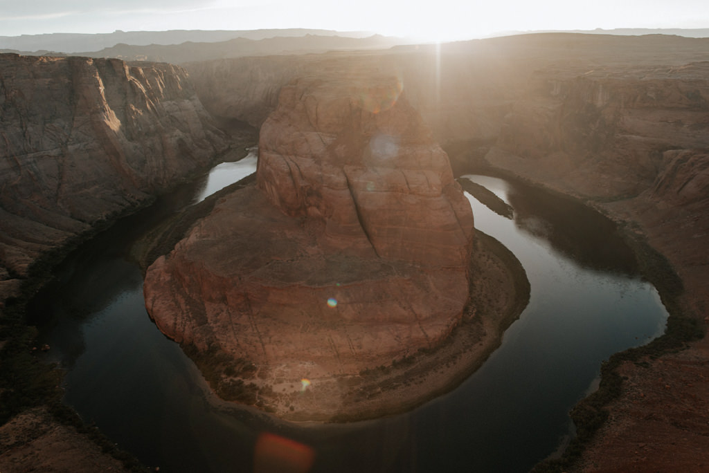 Horseshoe Bend in Arizona at sunset