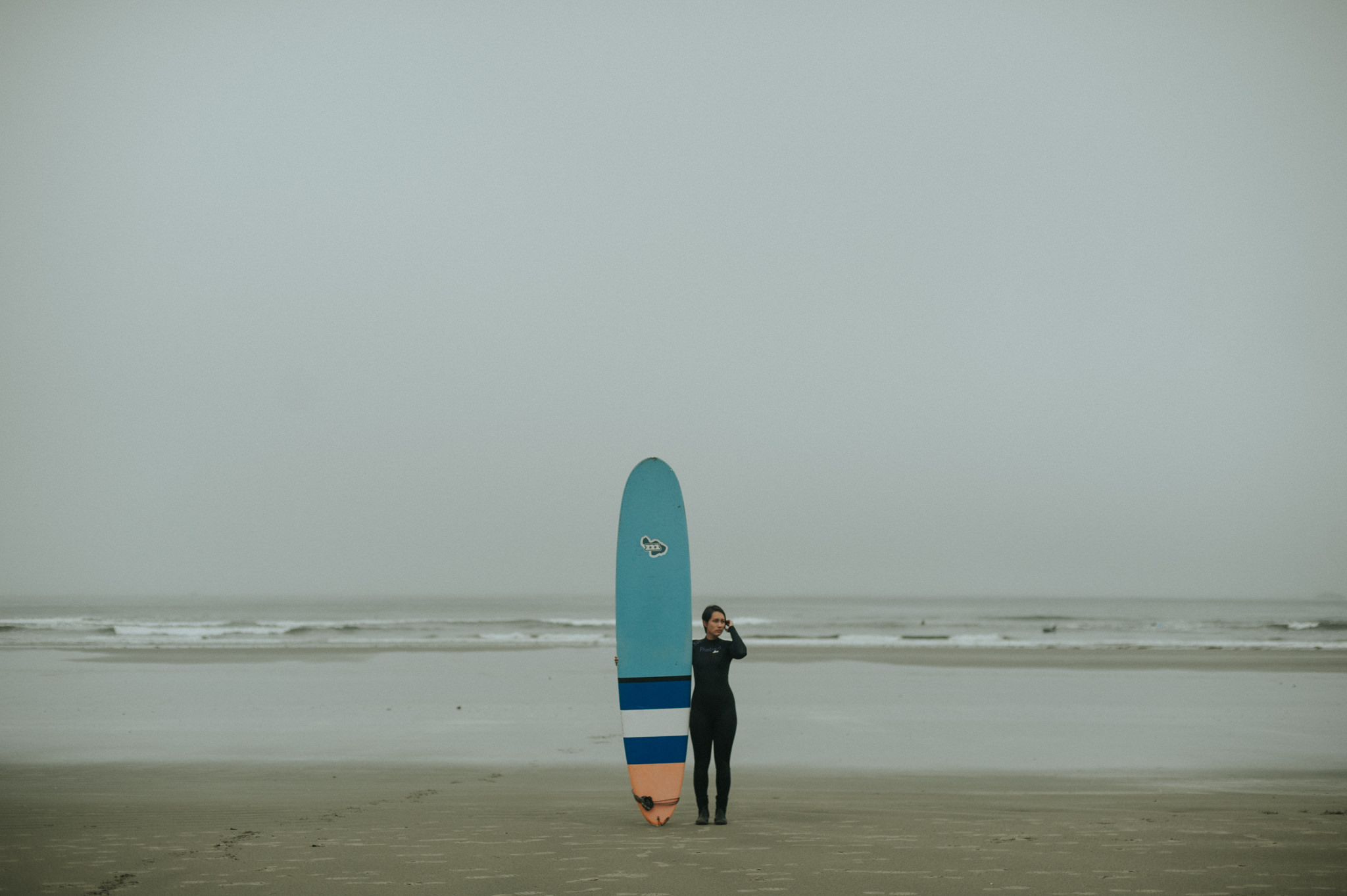 Surfing at Cox Bay in Tofino