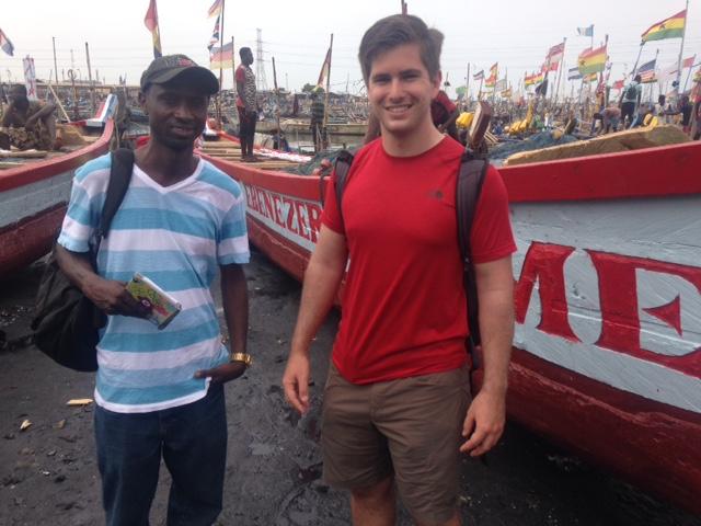Checking out Ghanaian fishing boats.