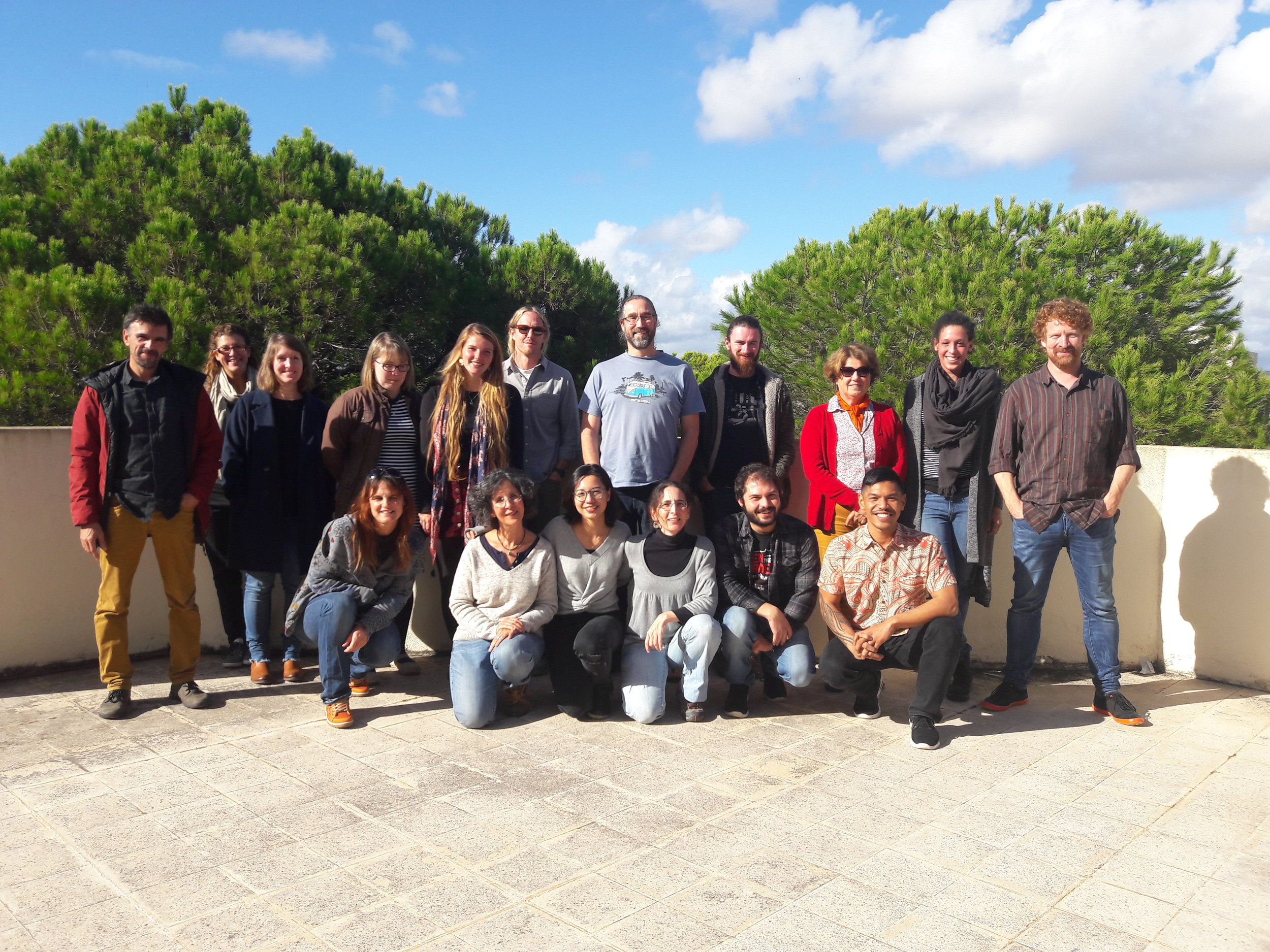 Postdoc Kelvin Gorospe and PI Austin Humphries doing the obligatory group photo at the Ecopath workshop in Portugal.