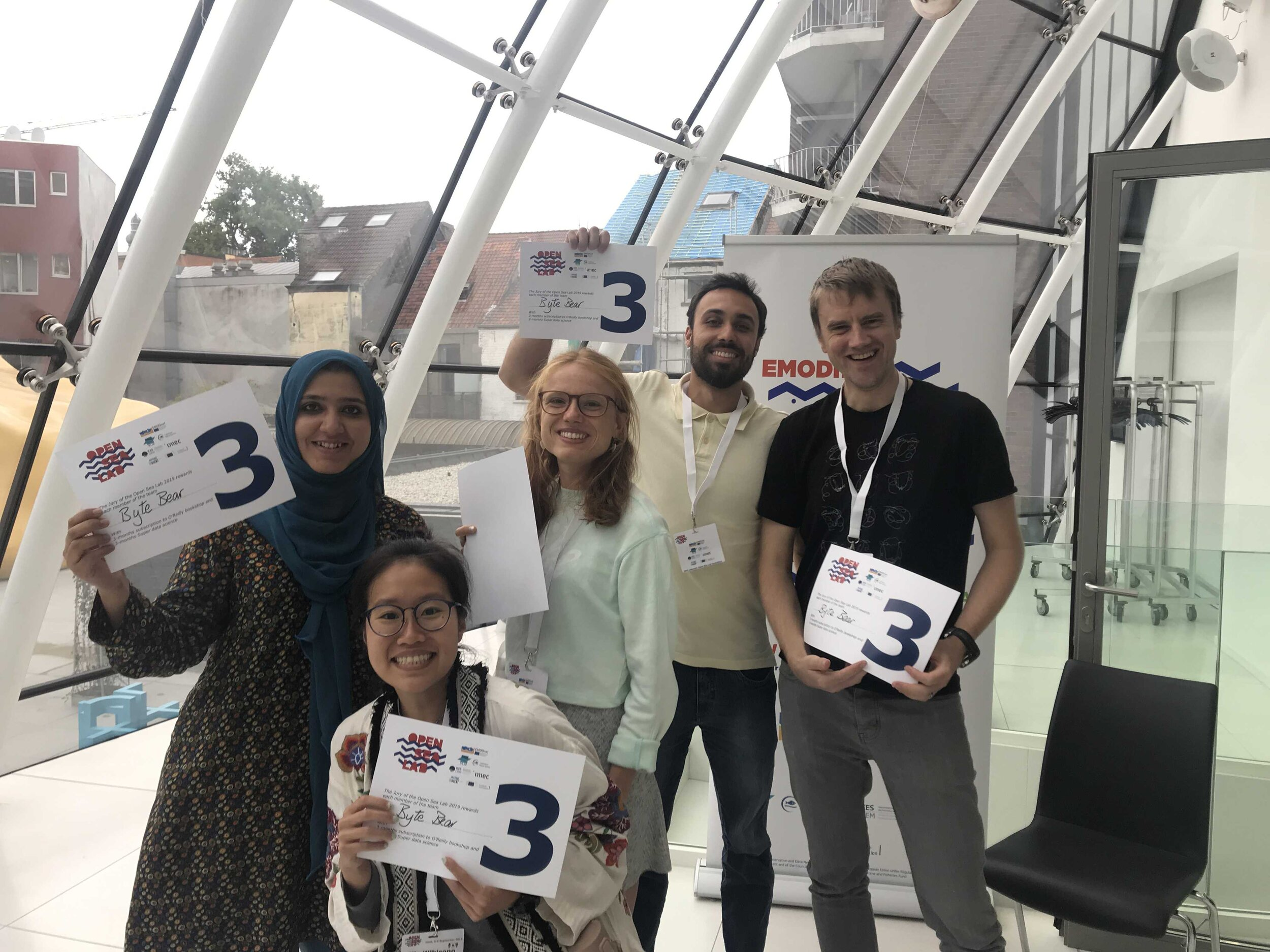 Elle and her Hackathon team #ByteBear placed 3rd overall among more than a dozen teams in this year's Hackathon data science competition run by Open Sea Lab.