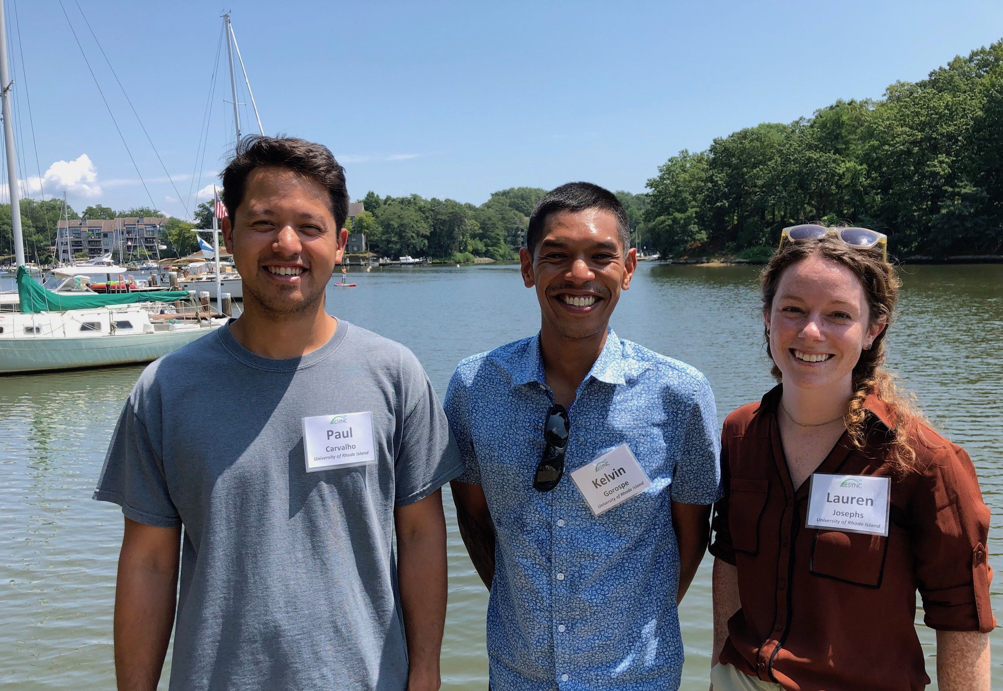 Paul, Kelvin, and Lauren on a fresh air break from work with their SESYNC group in Annapolis, MD.