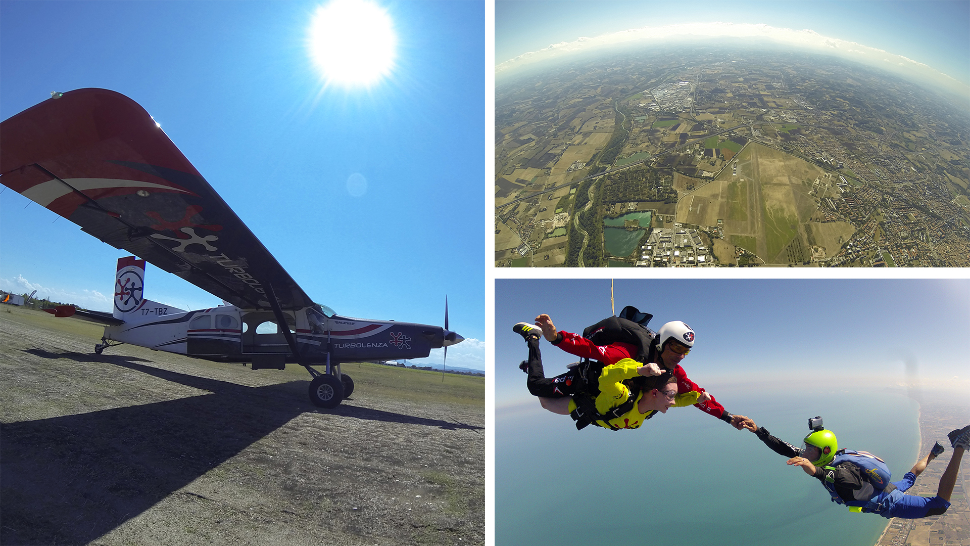 My favourite part of the trip: Skydiving in Fano!