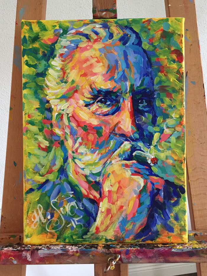 Christopher Lee portrait, Heikki Sivonen