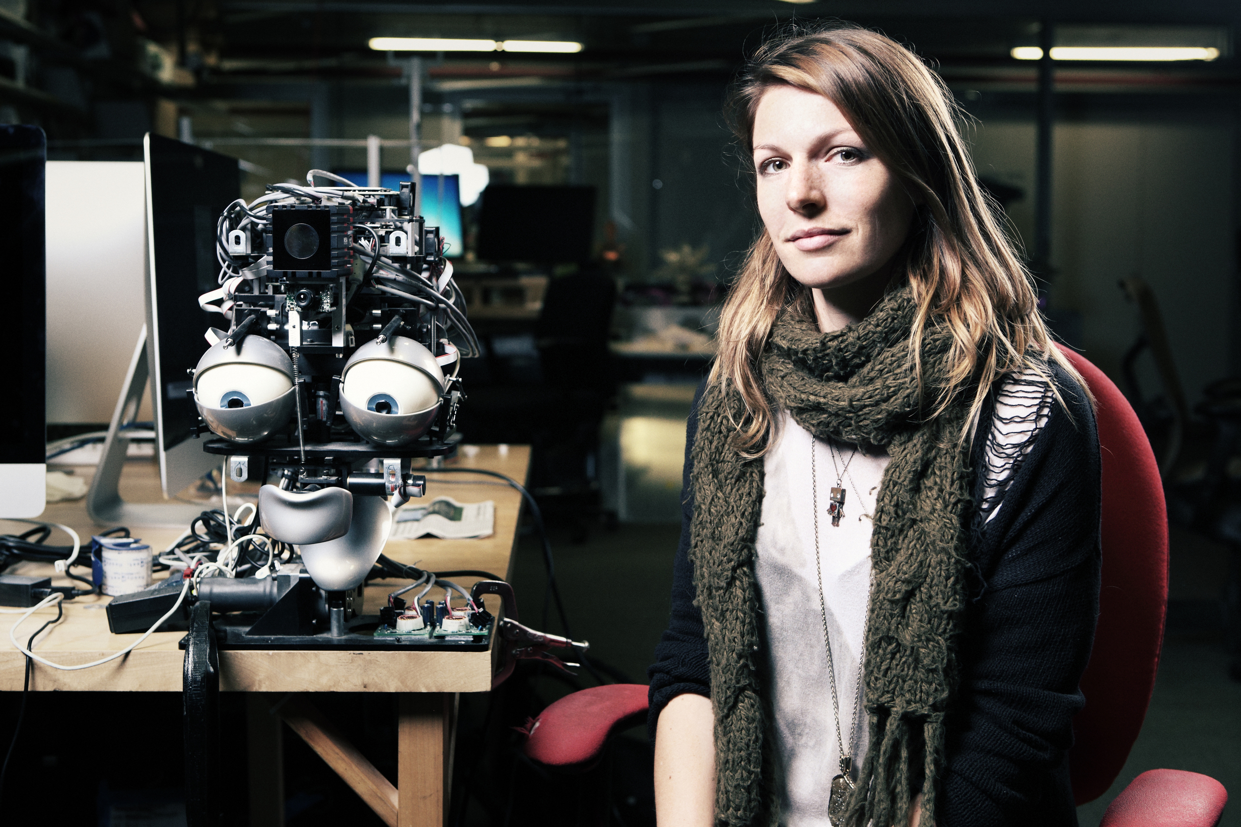 Photo: Flavia Schaub. Robot: project by Nick DePalma @ Personal Robots Group, MIT Media Lab