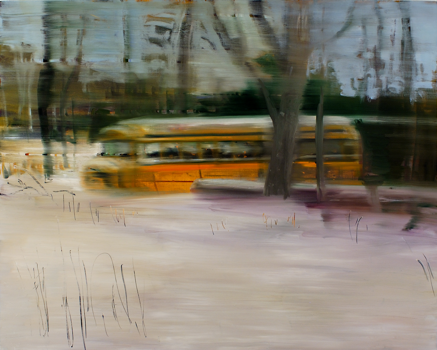 Bus in Snow, 2005