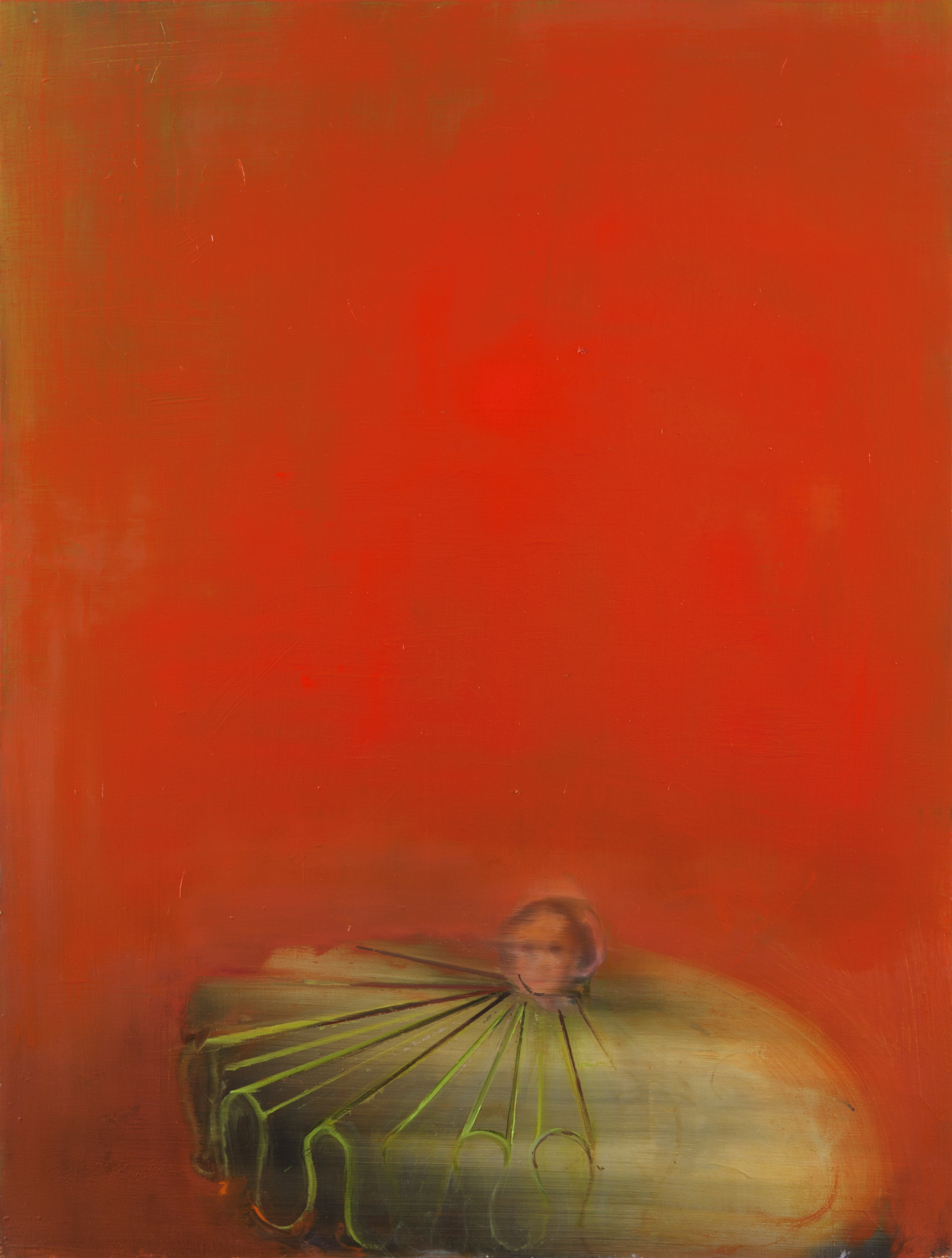 Green Collar on Red, 2014