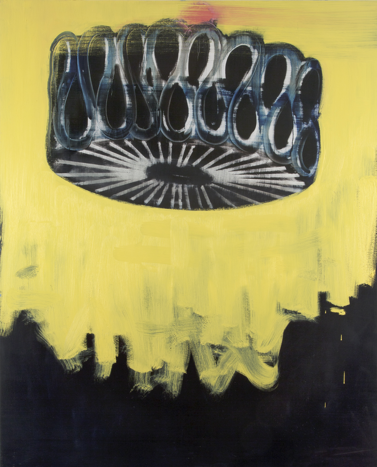 Big Black Collar on Yellow, 2014