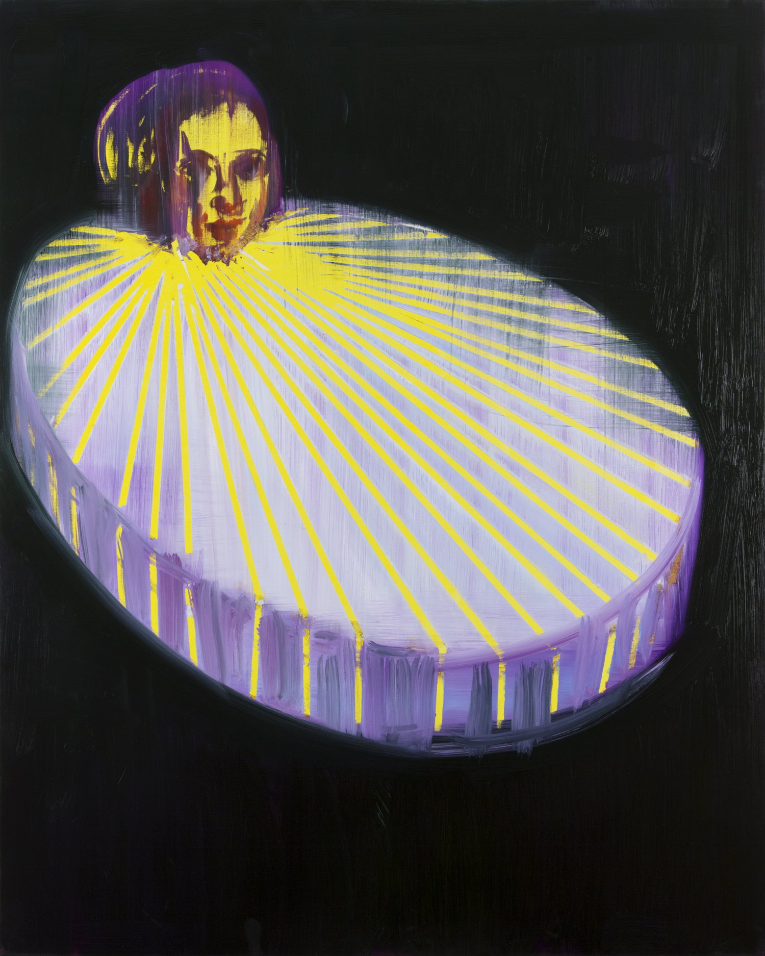 Big Collar with Yellow Stripe, 2014