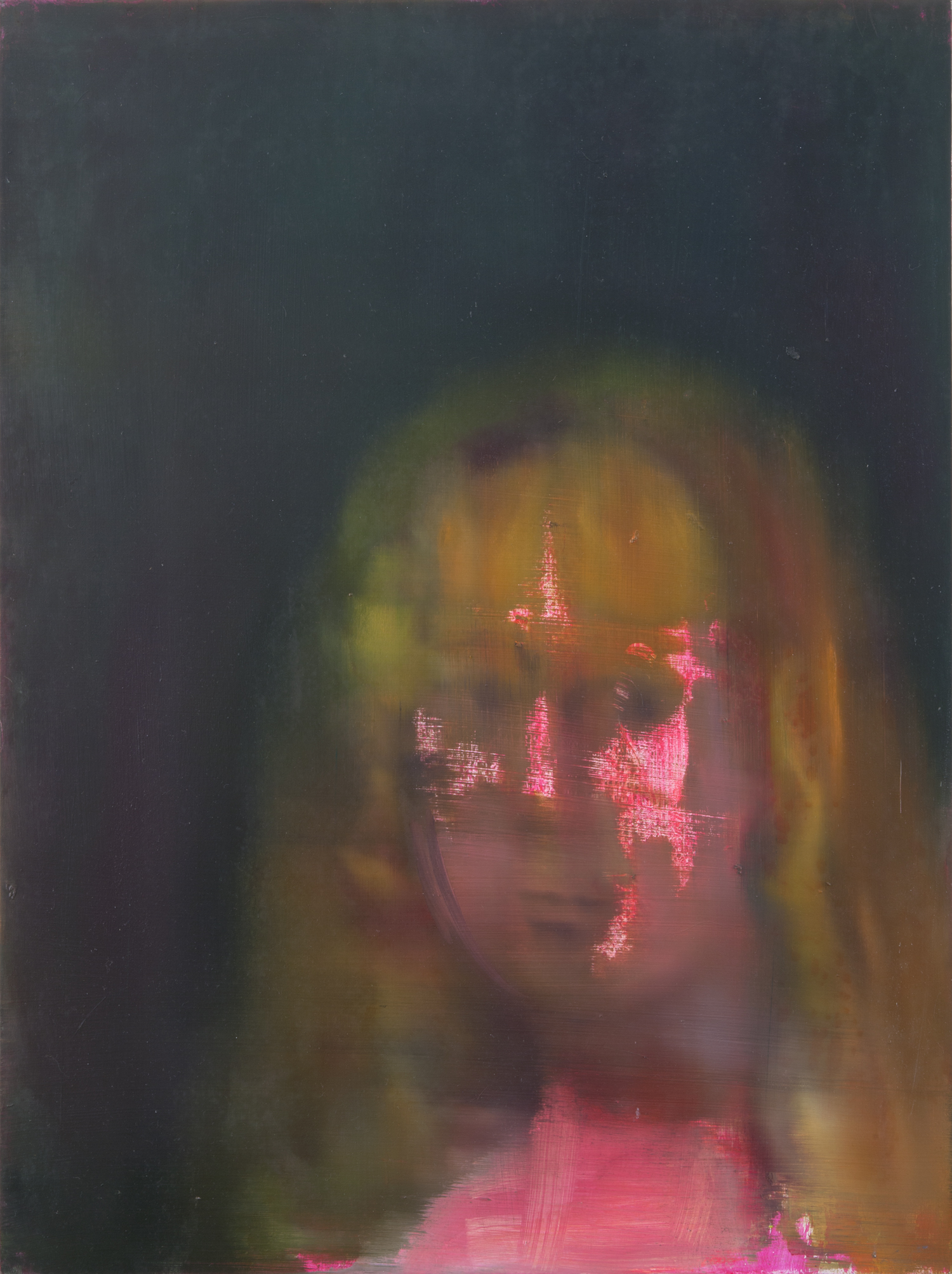 Portrait of a pink Josepha de Castilla (after Goya), 2013
