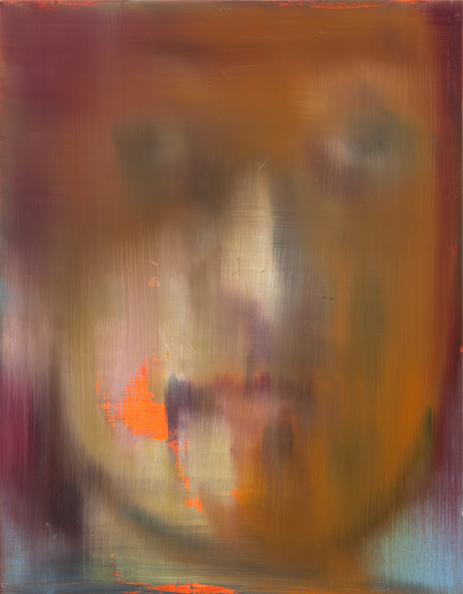 Portrait of a man with an orange spot (after Rembrandt), 2013