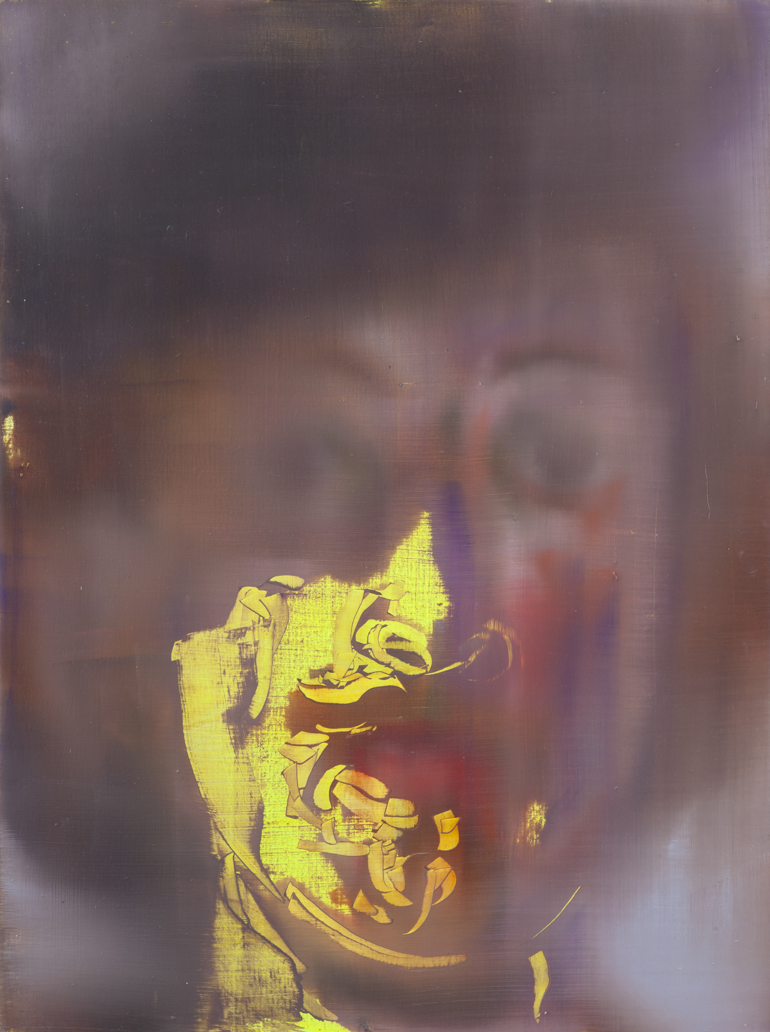 Portrait of a Yellow Man with Shaded Eyes (after Rembrandt), 2013