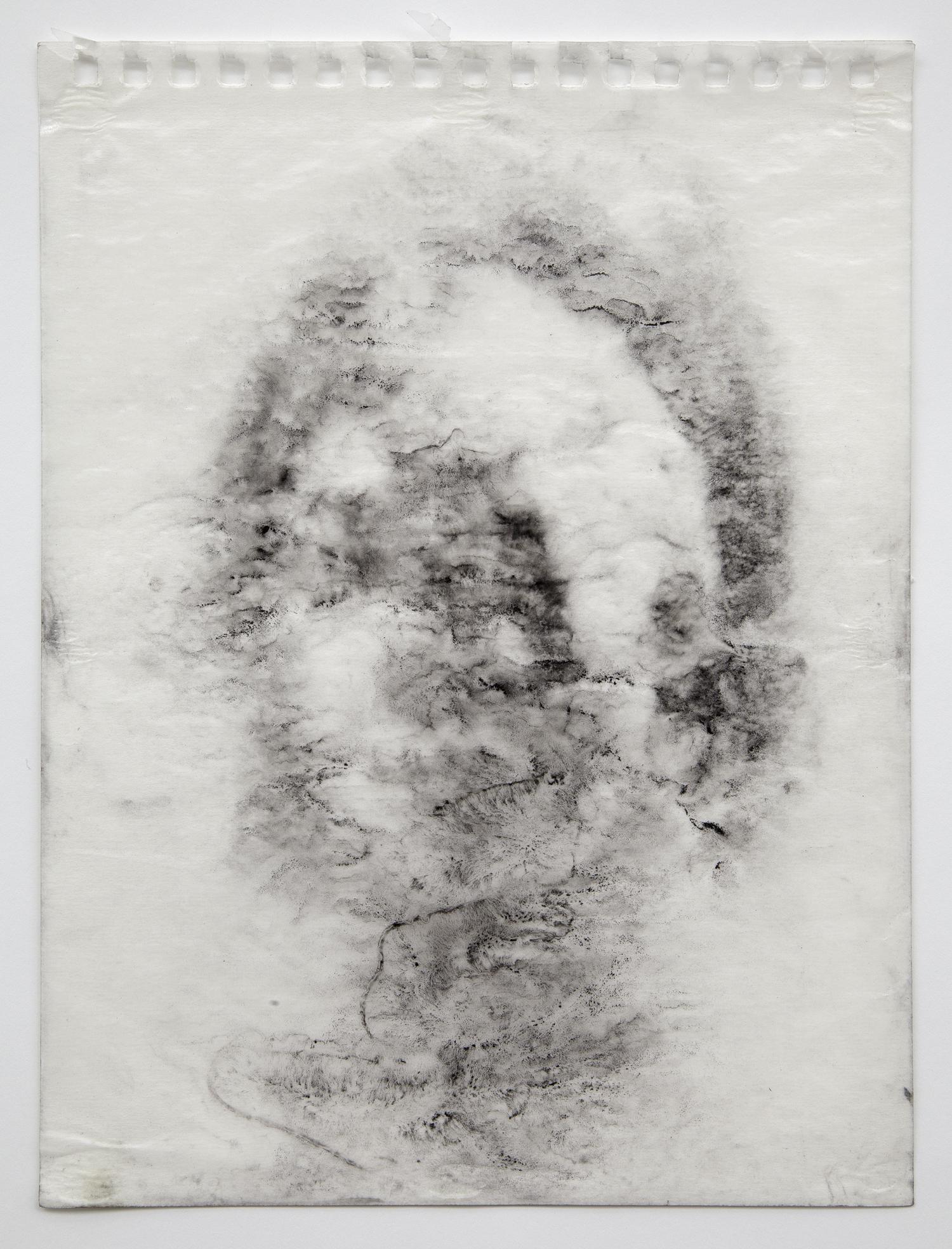 Interleaf Drawing (Roman Head), 2013