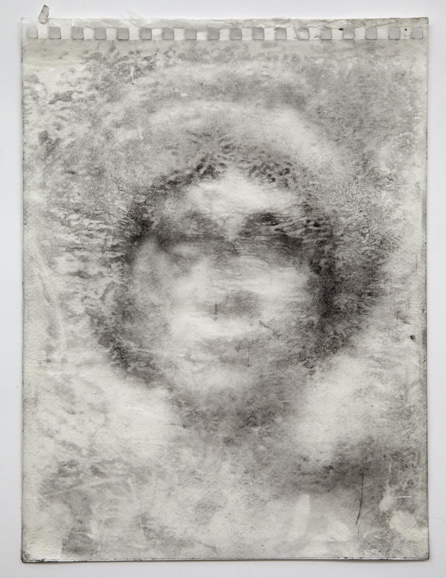 Interleaf Drawing (Byzantine Head), 2012