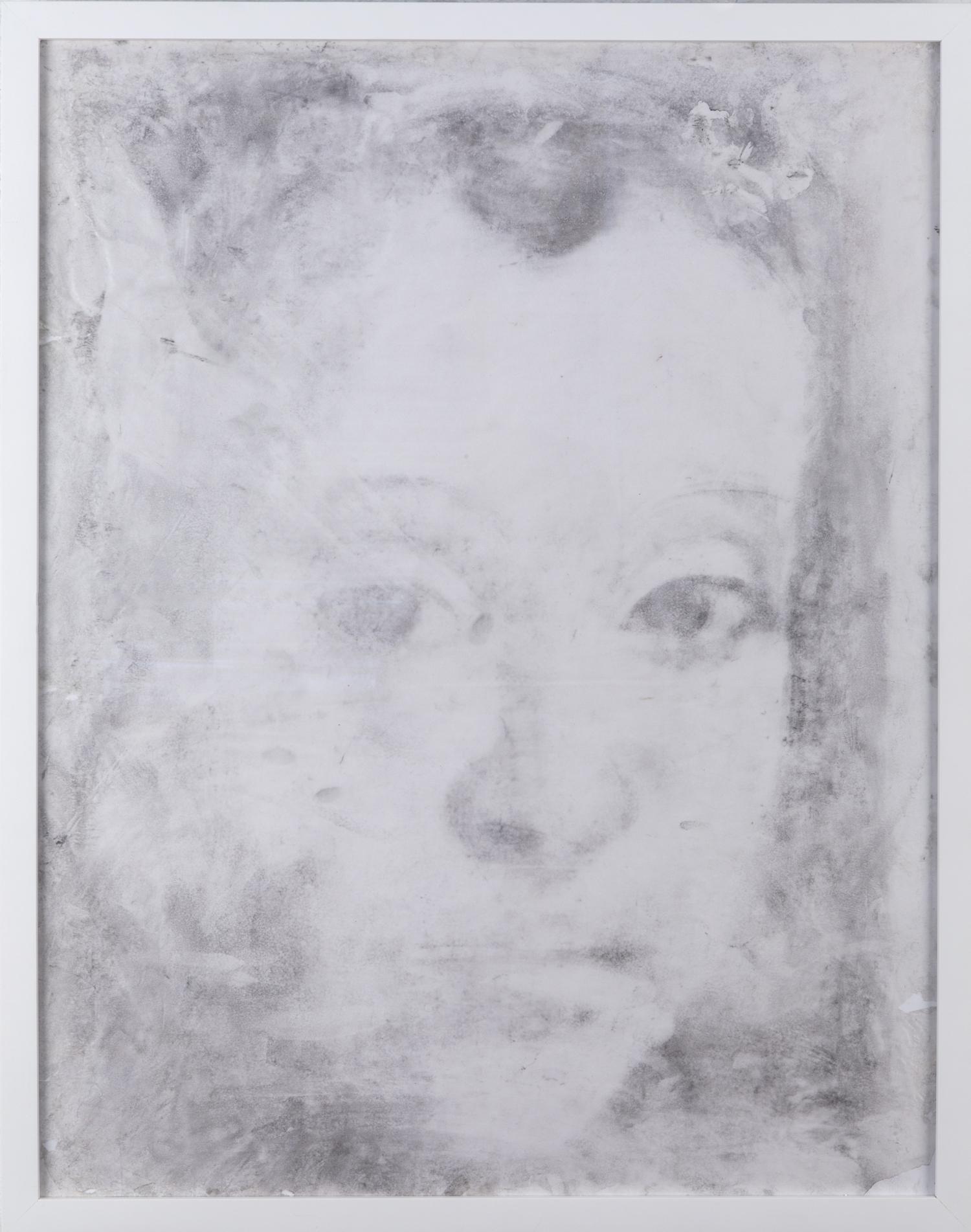 Charcoal on Glassine (after Christus), 2013